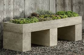 Garden Bench With Planters Modern Outdoor Flower Pots And Planters