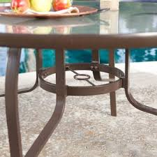 Patio Table With Umbrella Hole Axondirect Cdrt561841 48 Inch Round Glass Top Outdoor Patio Dining