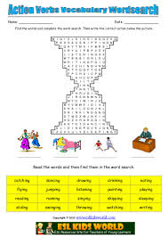 Resume Verb Action Verbs Wordsearch