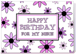 niece birthday card pretty flowers greeting card by dreaming mind