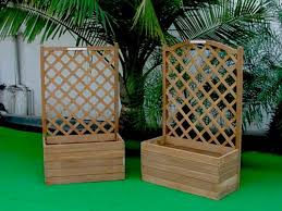 Wooden Planter With Trellis Product Uniflex Timber