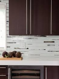 Kitchen Backsplash Dark Cabinets Kitchen Mosaic On Pinterest Glass - Kitchen tile backsplash ideas with dark cabinets