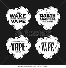 vape related tshirt designs set quotes stock vector 478126357