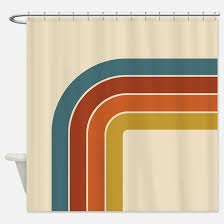 retro shower curtains cafepress