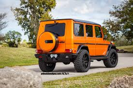 lifted mercedes sedan orange is the new black dual lifted g wagons by wheels boutique