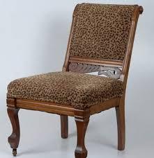 Leopard Armchair Eastlake Victorian Chair In Leopard Print Fabric Ebth