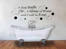 30 vinyl wall art bathroom troubles away bathroom wall quote