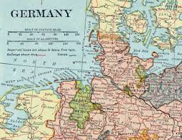 Maps Of Germany by 1925 Vintage Map Of Germany With Insets Of Hamburg And Berlin