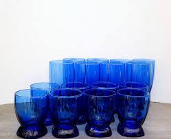 cobalt blue glass anchor hocking glassware berkeley drinking cobalt blue glass anchor hocking glassware berkeley drinking glasses set vintage glassware