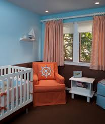 Nursery Bedding And Curtains by Nautical Crib Bedding In Nursery Contemporary With Cafe Curtains