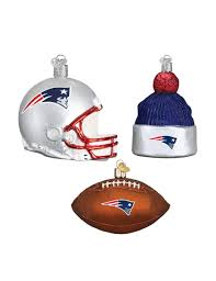 new patriots 3 pc ornament set stage stores