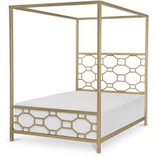 Metal Canopy Bed Legacy Classic Uptown White And Gold Metal Canopy Bed By