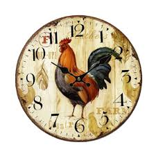 rustic wooden wall clock country style clock decorative non tick