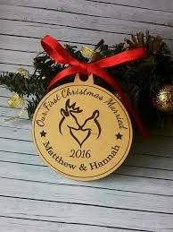 personalized ornaments wedding personalized our christmas married couples 1st christmas