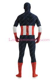 halloween costumes captain america cheap captain america lycra dark blue spandex superhero costume