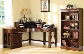 Corner Desk For Bedroom Bedroom Minimalist Corner Chocolate Wooden Bedroom Desk Bronze