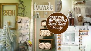creative bathroom towel rack design ideas youtube