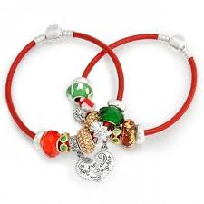 pandora bracelet set images Mother daughter christmas charm bracelet set pandora compatible jpg