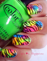 neon animal print nail tutorial color society blogcolor society blog
