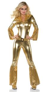 Disco Halloween Costumes Kids Women U0027s Gold Disco Jumpsuit Costume Candy Apple Costumes