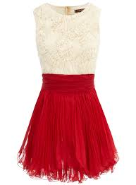 cream red frill dress going out dresses dresses dorothy