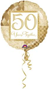 50 year wedding anniversary golden wedding anniversary izzys party shop for your party supplies