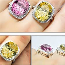 big crystal rings images Fashion rings big yellow crystal jewelry watches fashion jpg