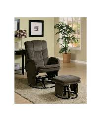 Chenille Reclining Sofa by With Ottoman Reclining Glider In Chocolate Chenille