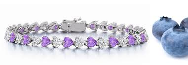 bracelet diamond sapphire images Valentine 39 s day gifts heart purple sapphire heart diamond bracelets jpg