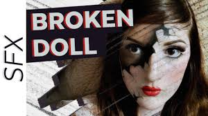 halloween cracked broken porcelain doll makeup tutorial sfx youtube