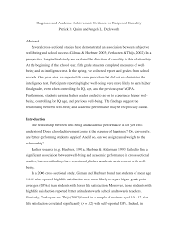 happiness and academic achievement evidence for reciprocal