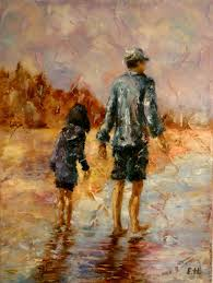 buy oil painting evening walk on livemaster online shop