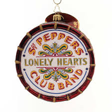 christopher radko beatles large sgt peppers drum glass ornament