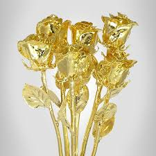 dipped in gold six 11 24kt dipped real bouquet is a