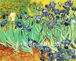 yy0323 oil painting vincent van gogh irises purple flowers 100
