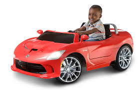 Dodge Viper Red - amazon com kid trax dodge viper srt 6v ride on toys u0026 games