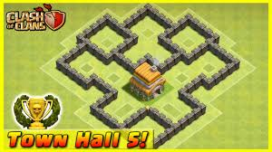 coc village layout level 5 clash of clans defense strategy townhall level 5 trophy base