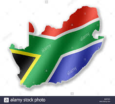 Africa Country Map South Africa African Country Map Outline With National Flag Inside