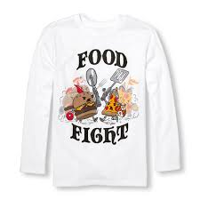 boys sleeve food fight warriors graphic the