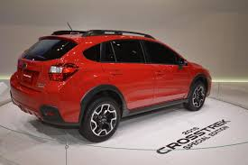 crosstrek subaru red subaru xv crosstrek special edition hides between concepts at chicago