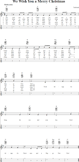 we wish you a merry chords sheet and tab for