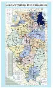 Map Illinois Illinois Community Colleges With Legislative District Boundaries