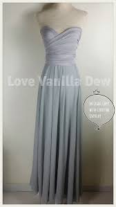light grey infinity dress bridesmaid dress infinity dress light grey with chiffon overlay