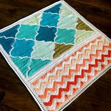 pattern babylove brand trellis and chevron blanket crochet