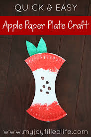 quick u0026 easy apple paper plate craft my joy filled life