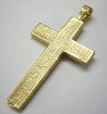 sterling silver 9ct gold 18ct gold scroll design cross crock