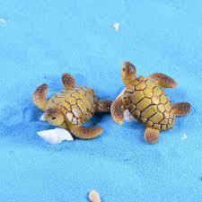 1 pcs mini sea turtle animal miniature garden decoration doll