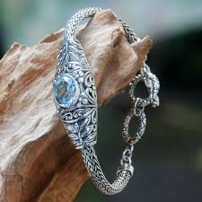 blue topaz silver bracelet images The allure of blue topaz jewelry novica blog jpg
