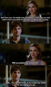 No Strings Attached Memes - natalie portman tells ashton kutcher she loves him the romantic