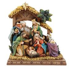 home interior nativity nativity set wood carved look nativity